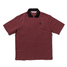 zip logo polo / burgundy