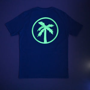team tee / bubble blue (glow in the dark)