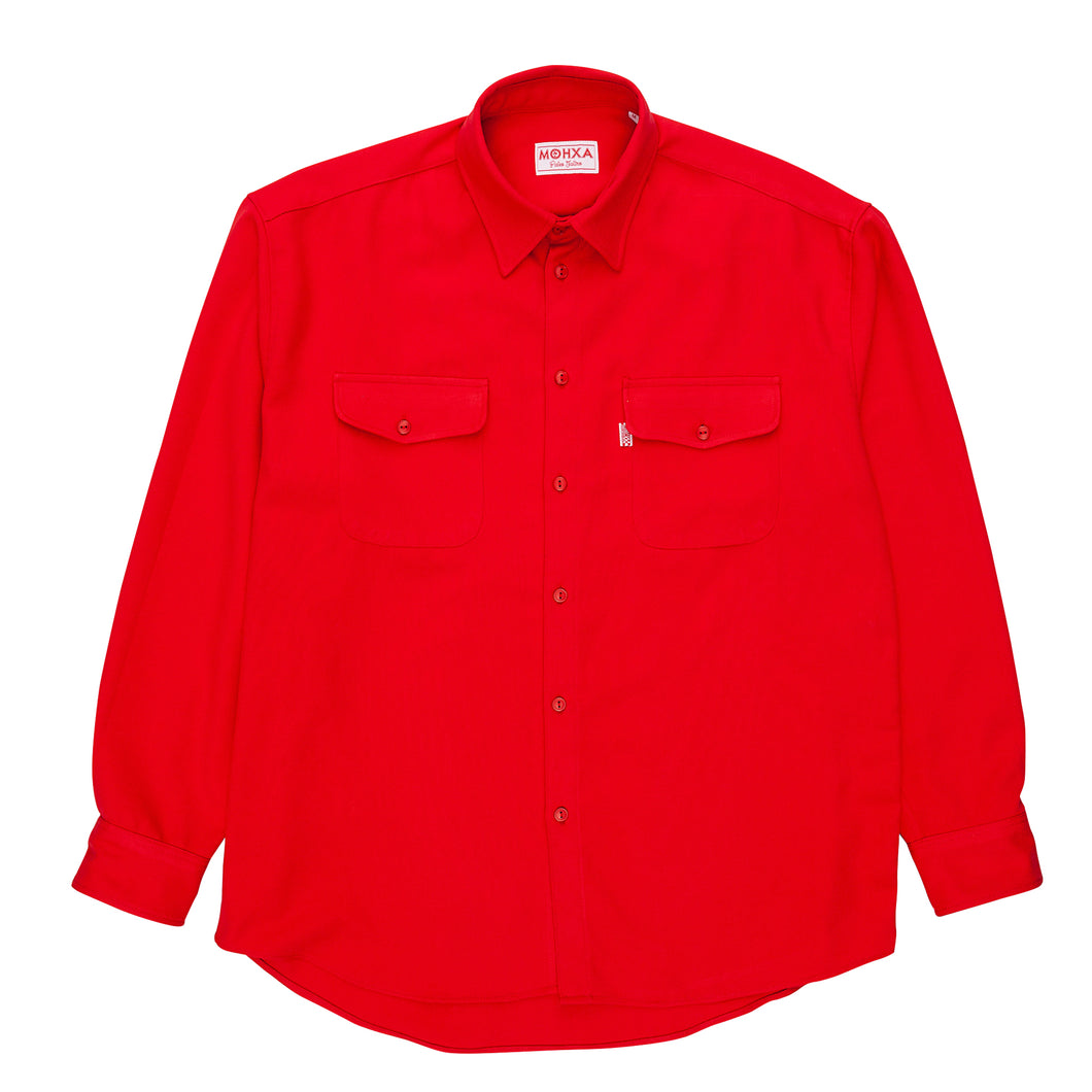 twill everyday shirt red