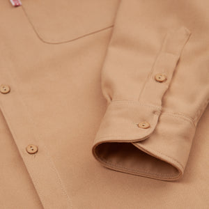 twill everyday shirt camel