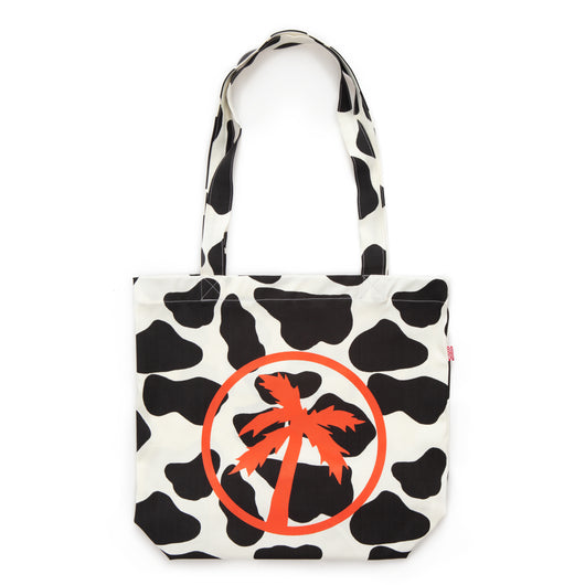 cow palm tote bag