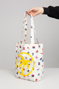 flags palm tote bag