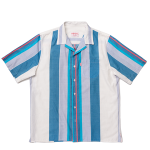 two and a half stripes lapel shirt