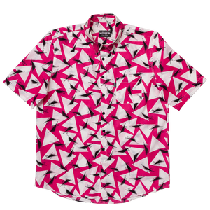 triangulation in shock pink label shirt