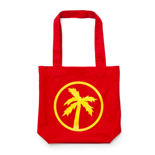 logo red tote bag