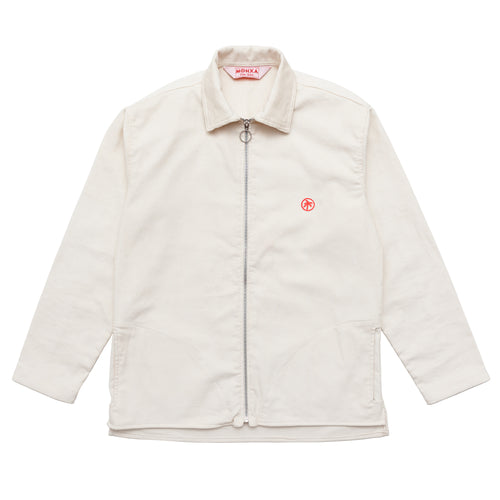 off white corduroy zip overshirt