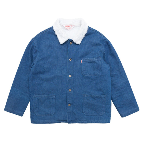sherpa denim chore jacket