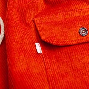 orange corduroy chiller pants