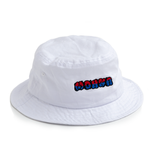 city bomb bucket hat / white