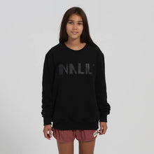 Load image into Gallery viewer, Little black Nalu logo on black sweater - Nalu