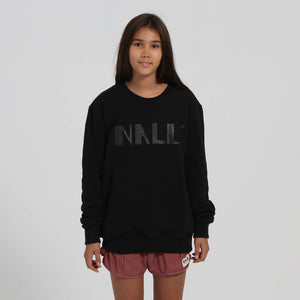 Little black Nalu logo on black sweater - Nalu