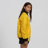 little canary yellow bomber jacket