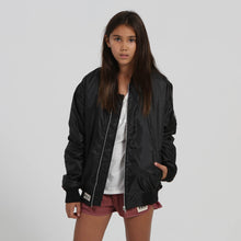 Load image into Gallery viewer, Little black bomber jacket