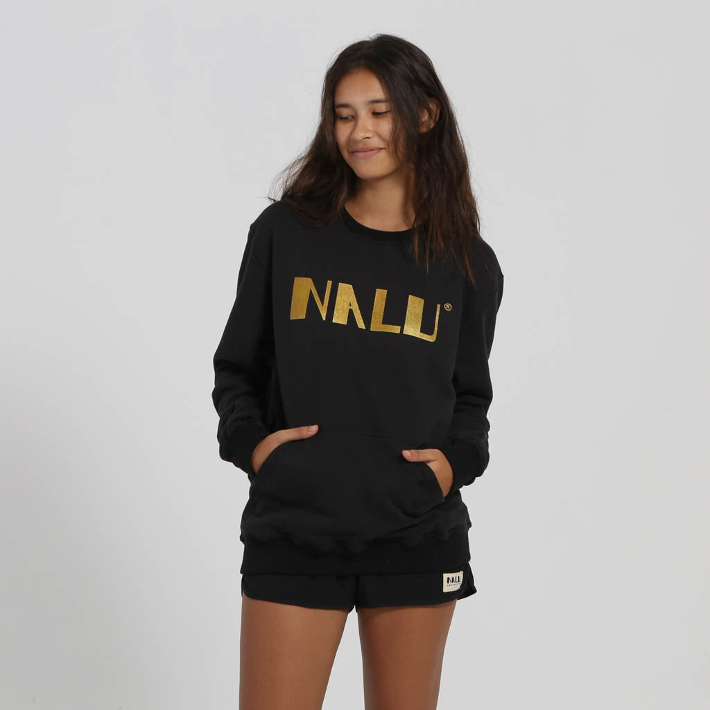 women gold nalu sweater - Nalu