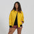 Canary yellow bomber jacket