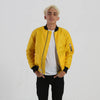 Mens canary yellow bomber jacket