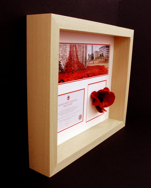 Tower Of London Poppy Display Frame Natural Remembrance