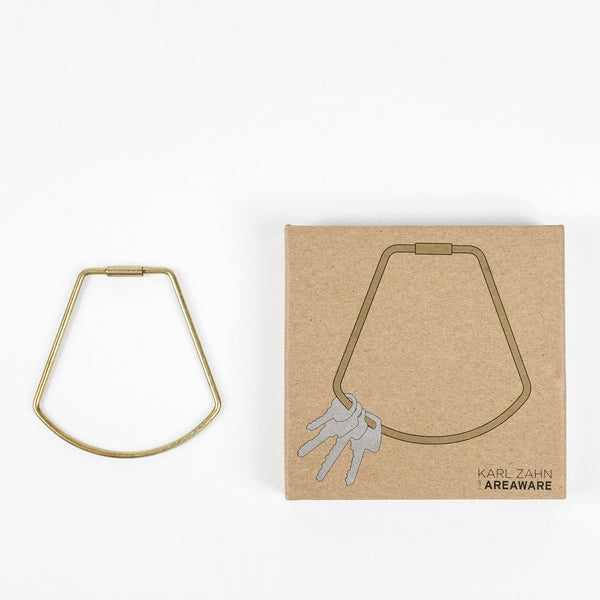 Areaware Contour Keyring - Bell (Brass)