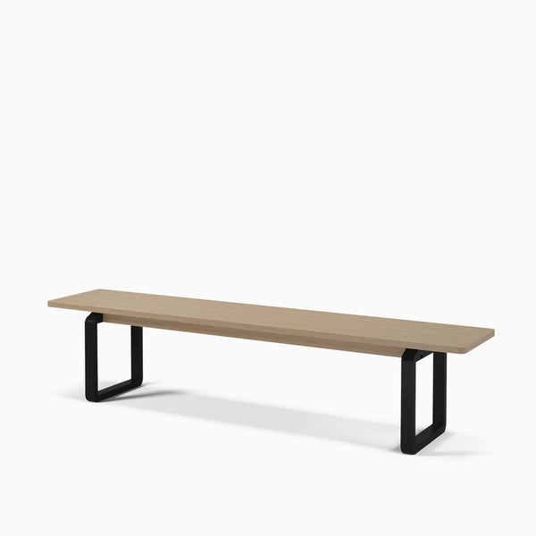 Bolia DT20 Bench White Oak and Black Stained Oak