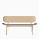 Bolia Dune Bench Upholstered Qual Stone Grey