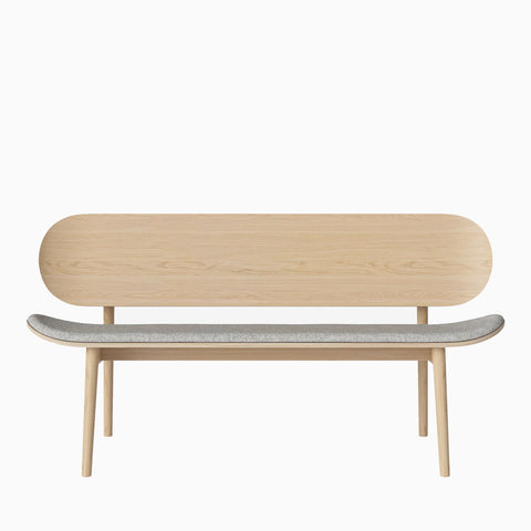 Bolia Dune Bench Upholstered Qual Light Grey Melange
