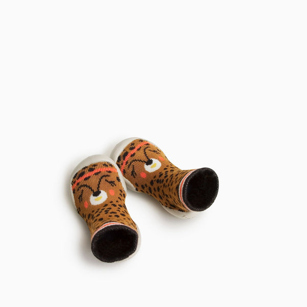 Collegien Slipper Sock - Lana Leopard