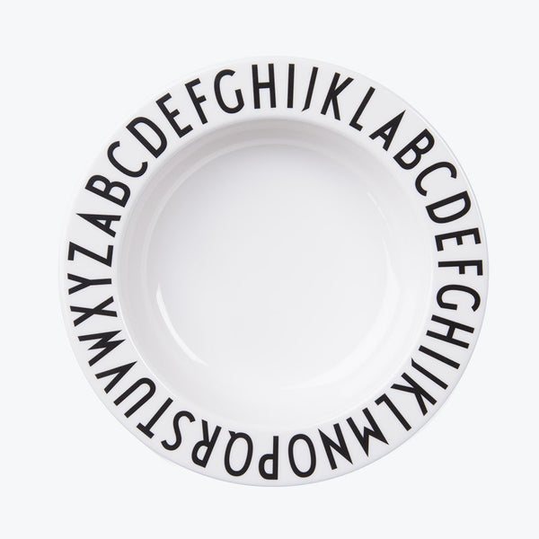 Design Letters Melamine Deep Plate Top View