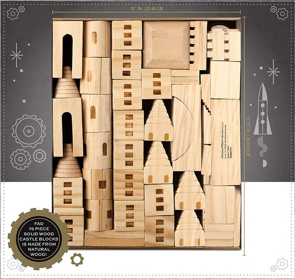 FAO Scwarz Wooden Toy Castle 75pcs