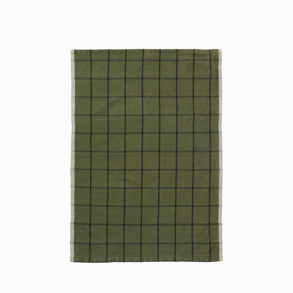 Ferm Living Hale Tea Towel Green Black
