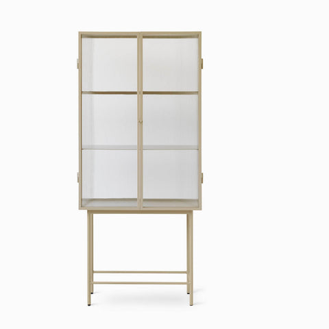 Ferm Living Haze Vitrine Reeded Glass - Cashmere