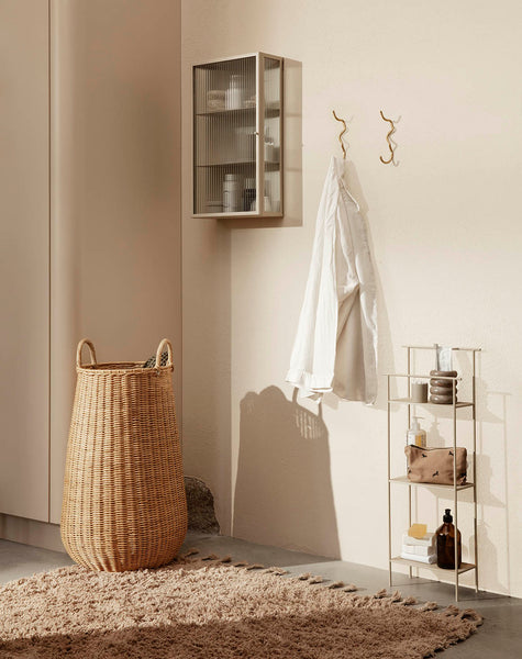 Ferm Living Haze Wall Cabinet Reeded Glass Cashmere