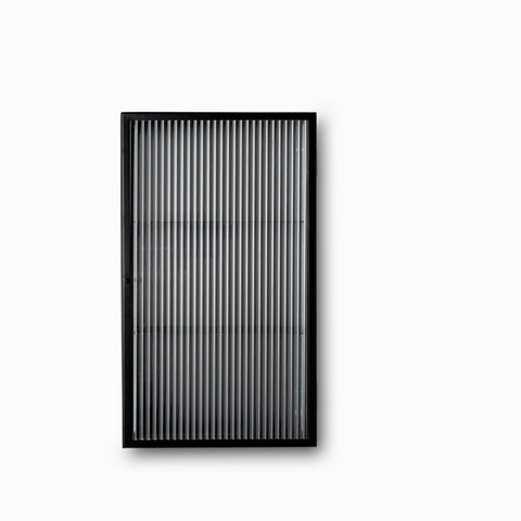 Ferm Living Haze Wall Cabinet Reeded Glass Black