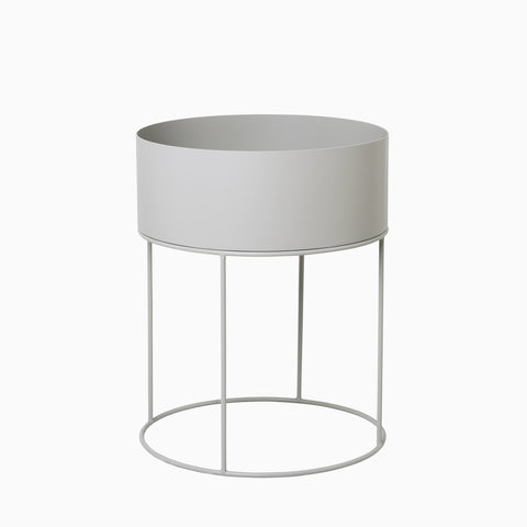 Ferm Living Plant Box Round Light Grey