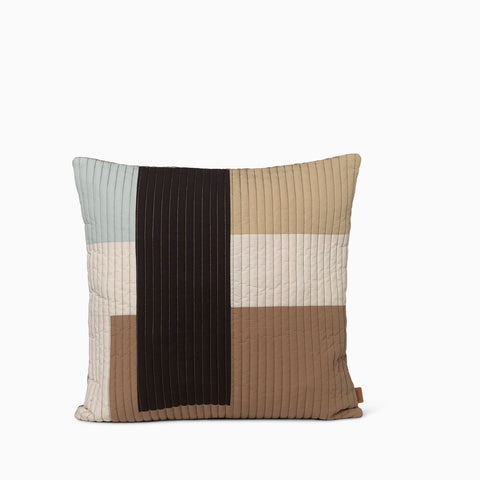 Ferm Living Shay Quilt Cushion 50x50cm - Desert