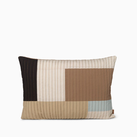 Ferm Living Shay Quilt Cushion 60x40 - Desert