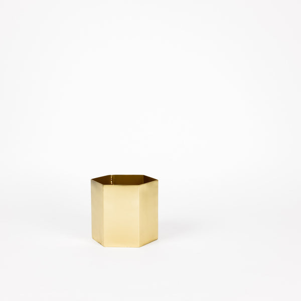 Ferm Living Brass Hexagon Pot (Large)