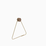 Ferm Living Brass Toilet Paper Holder Side View
