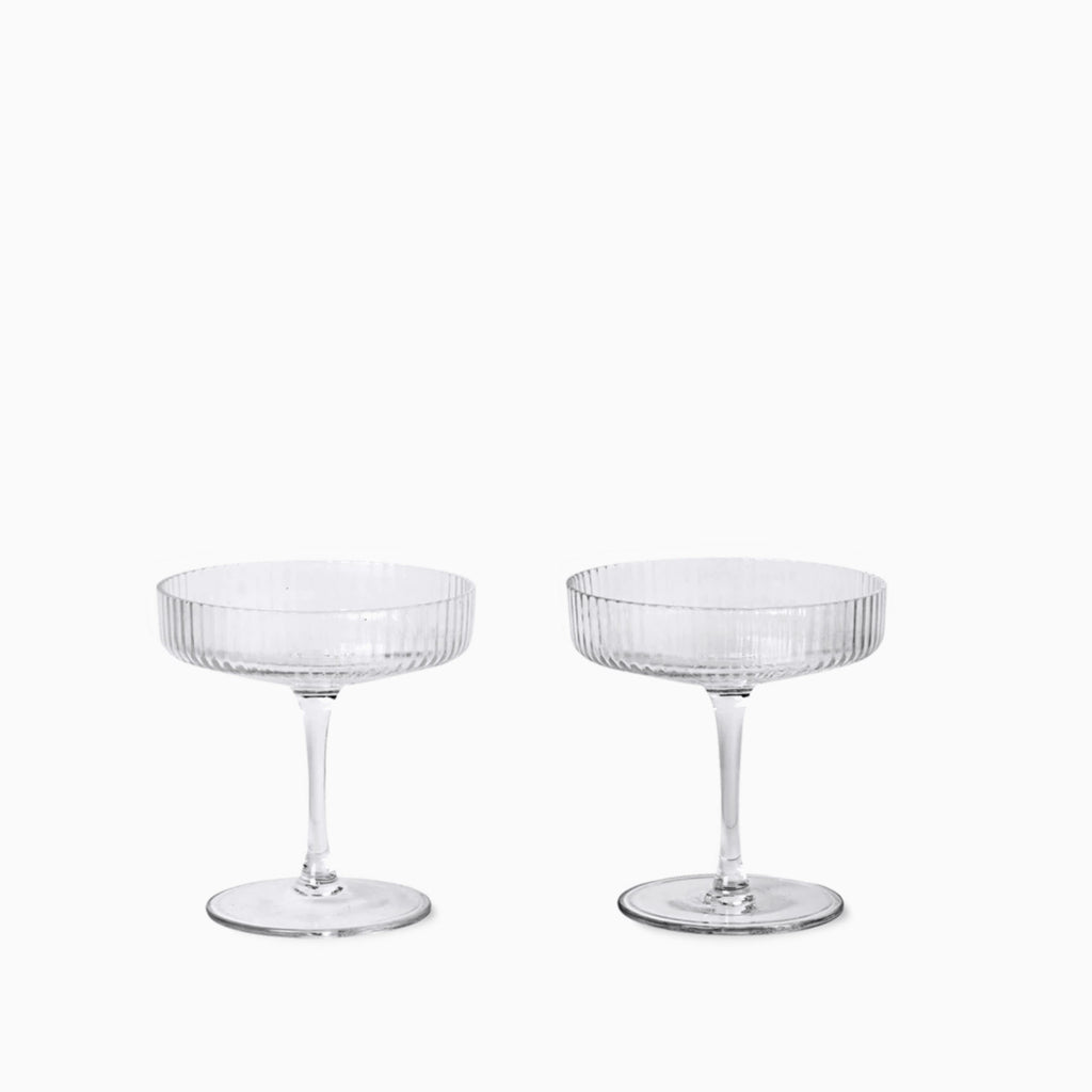Ferm Living Ripple Champagne Saucer Set Of 2 Arrival Hall
