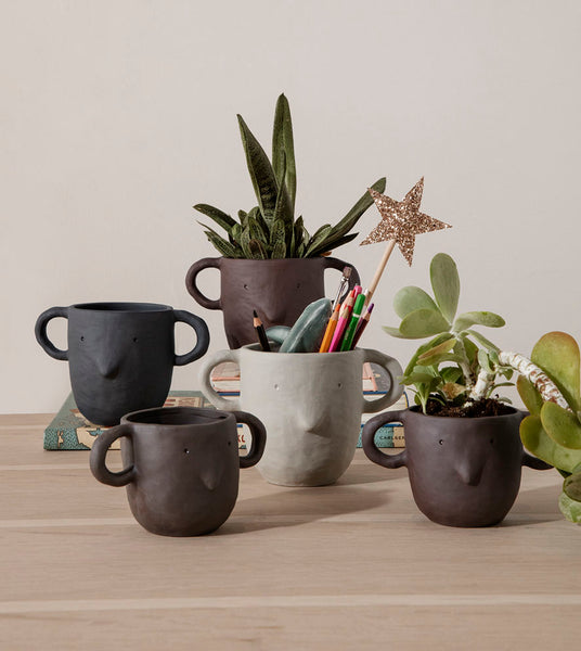 Ferm Living Mus Plant Pot Small - Red Brown