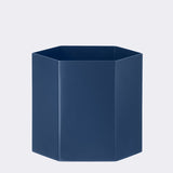 Ferm Living Blue Hexagon Pot (Large)