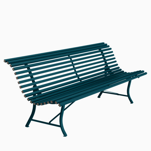 Fermob Louisiane Bench 200cm Acapulco Blue