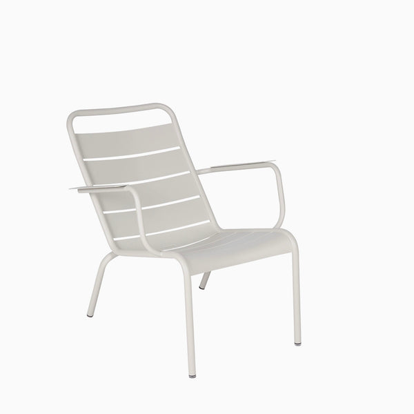 Fermob Luxembourg Low Armchair Clay Grey