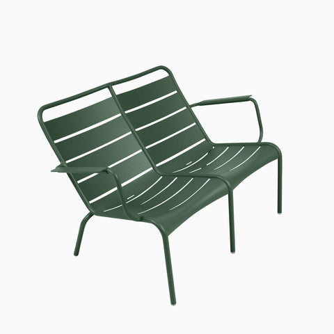 Fermob Luxembourg Duo Low Armchair Cedar Green