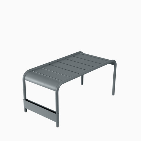 Fermob Luxembourg Low Table Garden Bench Storm Grey