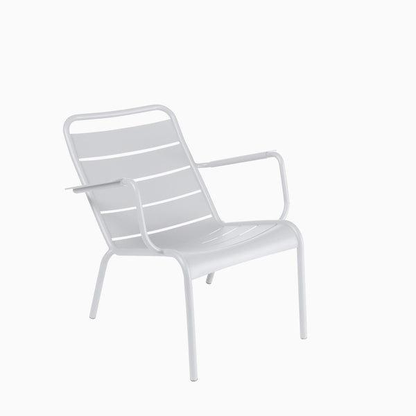 Fermob Luxembourg Low Armchair Cotton White