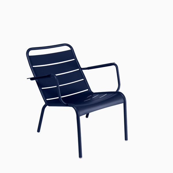Fermob Luxembourg Low Armchair Deep Blue