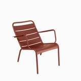 Fermob Luxembourg Low Armchair Red Ochre