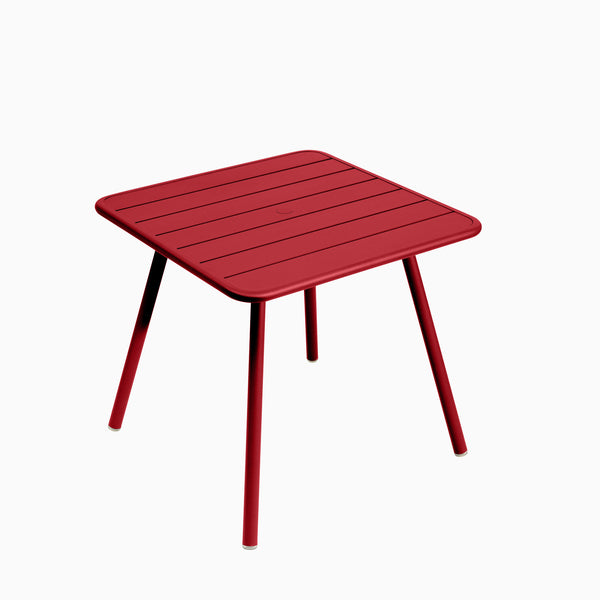 Fermob Luxembourg Square Table Poppy