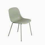 Muuto Fiber Side Chair Tube Base Dusty Green