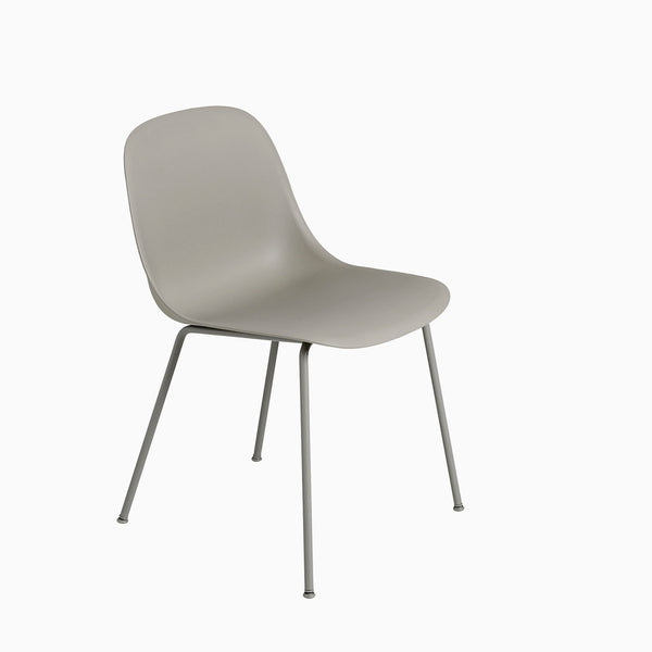 Muuto Fiber Side Chair Tube Base Grey